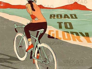 Vintage Artwork - Road To Glory