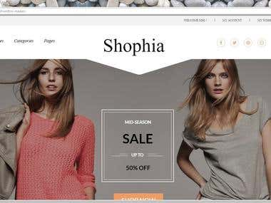 Shophia E Commerce Website Front End
