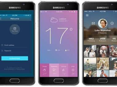 Mobile App UX & UI Design