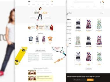 Kids fashion e-commerce website design