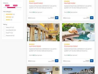 Travel hotel booking