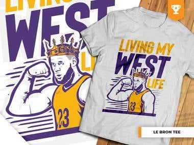 Le Bron   La Bron (Living My West Life) T-Shirt