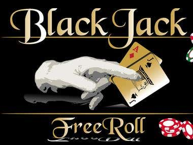 Black Jack freeroll turnament logo