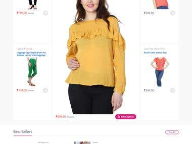 E-Commerce Portal For Fashion Store