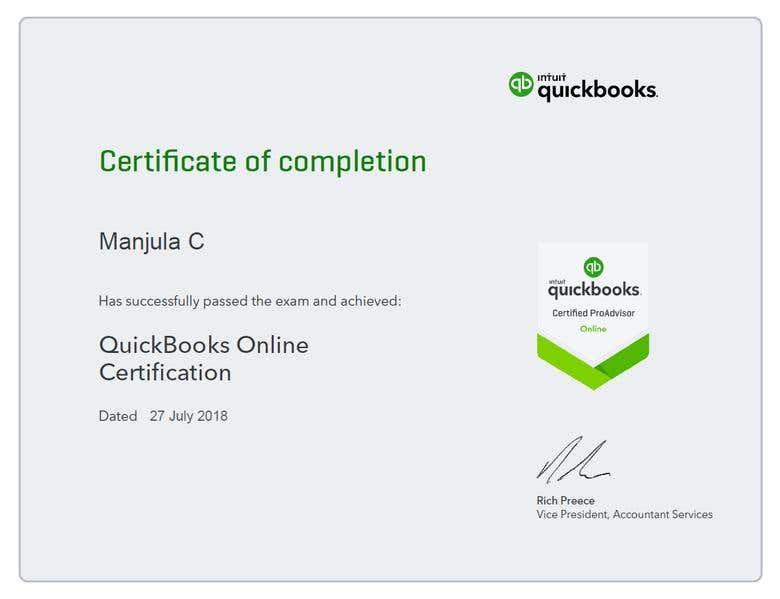Certified Quickbooks Proadvisor Freelancer