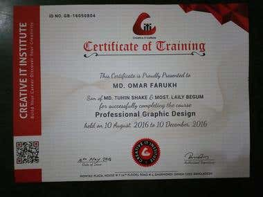 My Graphic Design Certificate