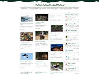 WildlifeThailand joomla website redesign using new theme
