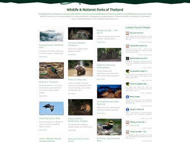 WildlifeThailand joomla website redesign using new theme