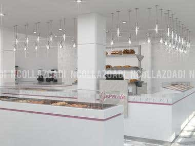 Interior Design Germain Patisserie & CoffeeShop Safi Morocco