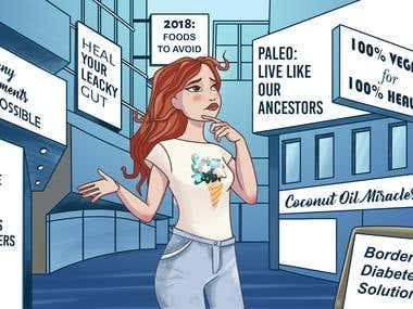 Illustration for a blog