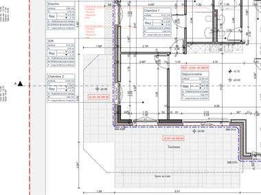 Housing. Construction drawings