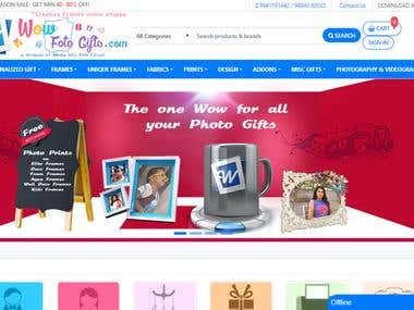 PHOTO FRAME ECOMMERCE WEBSITE