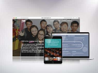 Event agency Website Desing
