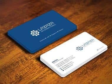 BUSINESS CARD DESIGN FOR LAZAZA INTERNATIONAL