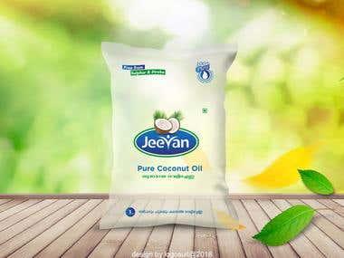Jeevan Coconut Oil Package Design