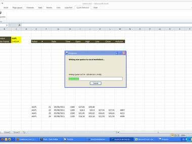 Stock Quote Retriever (Excel)
