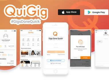 Quigig Inc. - Mobile Application