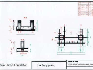 Structural Design for factory machines foundations