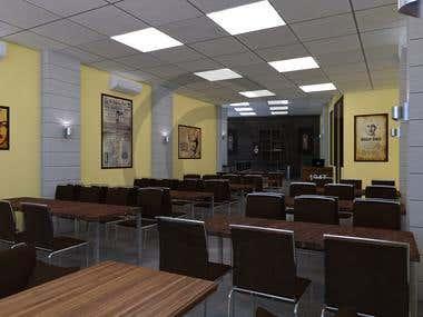 3D Restaurant Interior