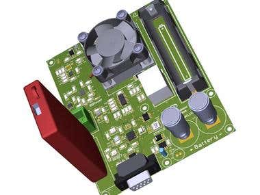 Example PCB 3D Rendering