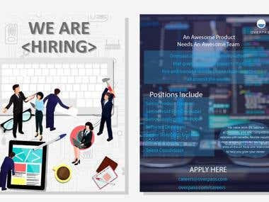 HIRING CARD DESIGN
