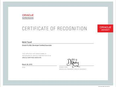 Oracle Certified PL/SQL Developer