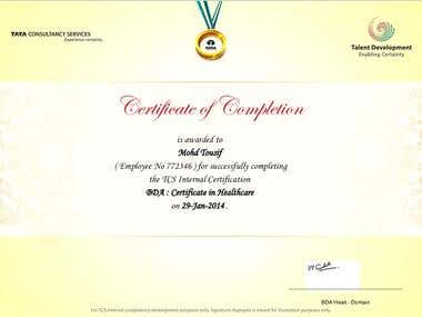 Certificate in Healthcare