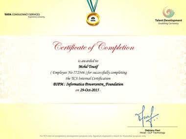 Informatica PowerCenter Certification