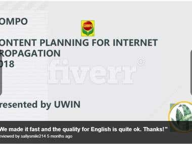 Native Chinese>EN 69pgs Presentation Translation