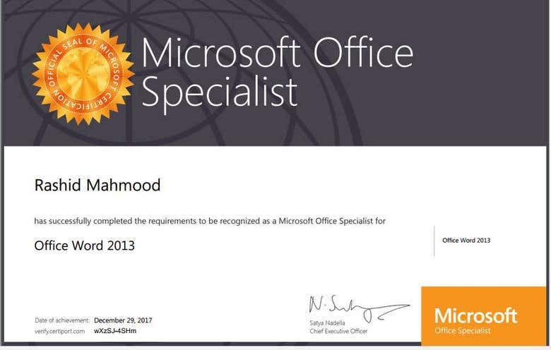 Certified By Microsoft Freelancer