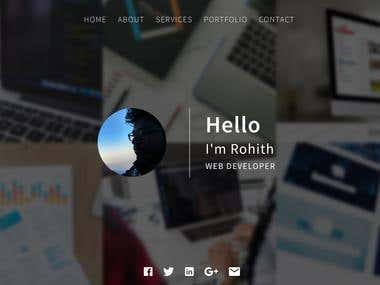 Personal Web Template
