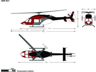 Bell 427 paint job design