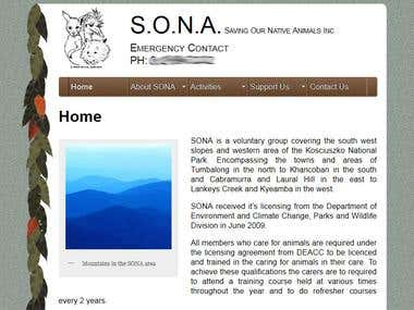 A web site for an animal rescure team