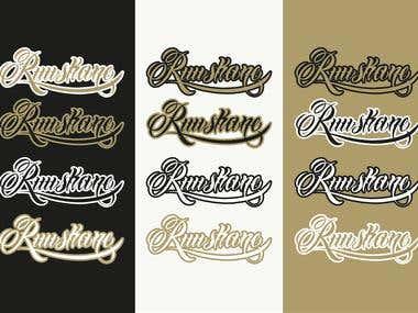 RUUSKANE logo/script design