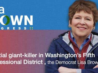 Banner Ads for Lisa Brown Campaign