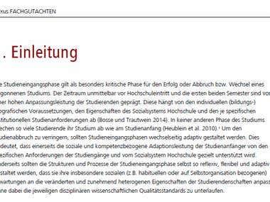 Rewriting: Expert Report in Higher Education (DE)