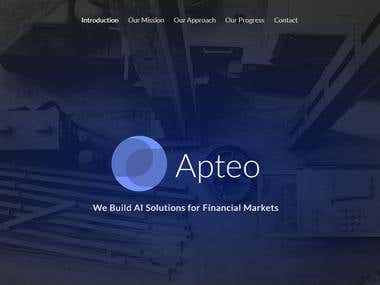 Apeto - Builidng AI solutions for Financial Markets