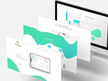Landing page design and development