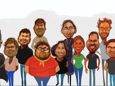 Caricatures Mostly - Corporates / Friends