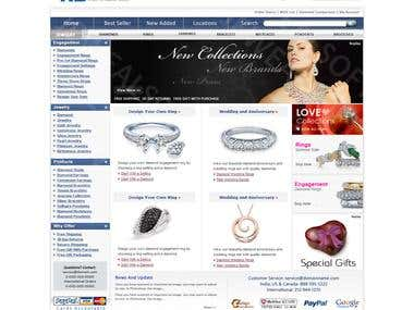 Jewellery E-Shop Solution