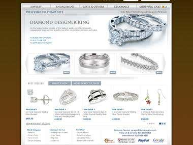 Jewellery E-commerce Web Sites
