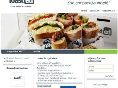 Toasted 2 Go Restaurant Website