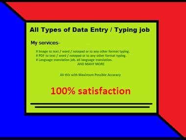 vaibhav5115 - All Type of DATA ENTRY WORKs   Freelancer