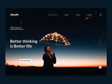Enjoylife UI design Exploration
