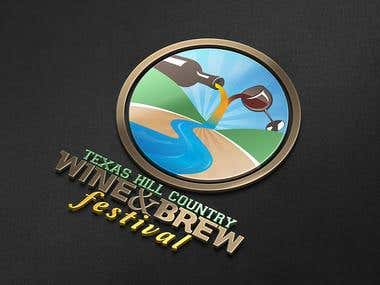 Winning Logo Design for Texas Hill Country Wine & Brew Fest