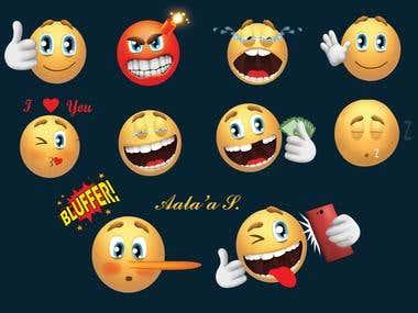 10 Animation Emojis GIFs