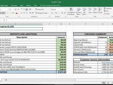 Data entry/MS Excel/Google Spreadsheet work