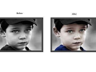 Colorize black & white photo