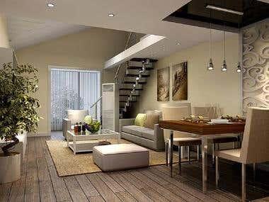Master Bedroom Interior design.