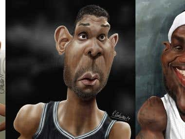 NBA Caricatures